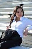 亚洲企业俏丽的妇女年轻人 免版税库存图片