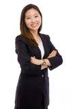 亚洲企业俏丽的妇女年轻人 免版税库存照片