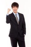 亚洲企业愉快的人年轻人 免版税库存图片