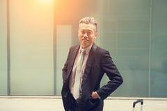 亚洲企业男性室外 库存图片