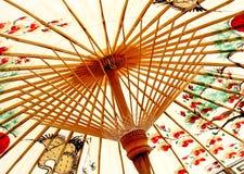 亚洲传统伞 图库摄影