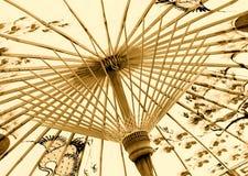 亚洲传统伞 库存照片