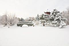 亚洲冬天 免版税库存图片