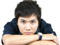 亚洲冷静人年轻人 免版税库存照片
