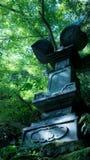 亚洲古老塔在森林里 免版税库存图片