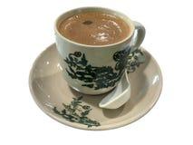 亚洲咖啡用牛奶 图库摄影