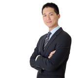 亚洲商人年轻人 免版税图库摄影