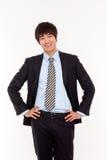 亚洲商人年轻人 免版税库存照片