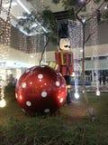 亚洲圣诞节装饰购物中心  库存图片