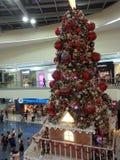 亚洲圣诞节装饰购物中心  免版税库存图片
