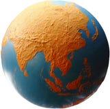 亚洲地球 免版税库存图片
