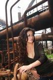 亚洲外部妇女年轻人 免版税图库摄影
