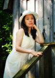 亚洲夫人纵向 免版税库存图片