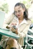 亚洲女商人年轻人 免版税库存照片