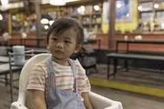 亚洲女婴乏味 免版税库存照片