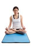 亚洲女子瑜伽 库存照片