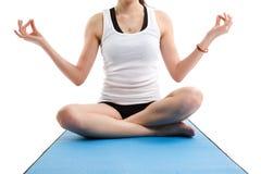 亚洲女子瑜伽 免版税图库摄影