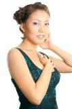 亚洲女孩发型 免版税库存图片