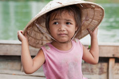 亚洲女孩纵向 库存图片