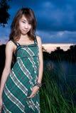 亚洲女孩纵向 免版税库存照片