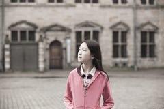 亚洲女孩纵向 免版税图库摄影