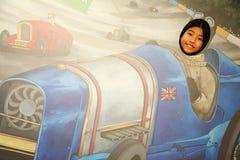 亚洲女性旅游场面 免版税库存图片