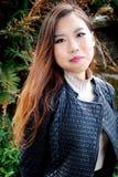 亚洲女性秀丽表示 图库摄影