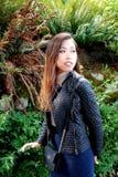亚洲女性秀丽表示 免版税库存照片