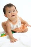 亚洲婴孩纵向 库存图片