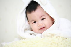 亚洲婴孩 免版税库存图片