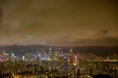 亚洲市在夜之前 库存照片