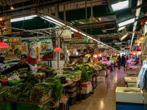 亚洲市场以供营商品种  库存照片