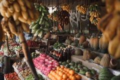 亚洲市场,异乎寻常的果子 库存图片