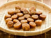 亚洲干食物扇贝 免版税库存图片