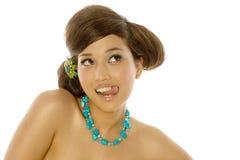 亚洲性感的妇女年轻人 免版税库存照片