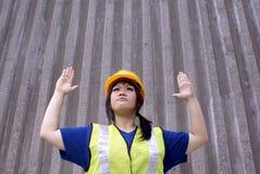 亚洲承包商女性终止 免版税库存图片