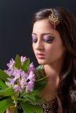 亚洲新娘构成 免版税图库摄影