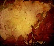 亚洲映射 免版税库存照片