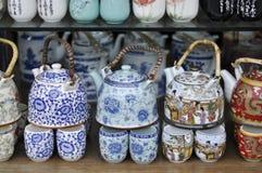 亚洲样式茶壶 库存照片