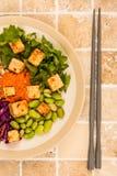亚洲样式辣素食主义者或素食主义者豆腐沙拉 库存图片