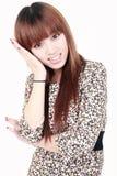 亚洲模型微笑 库存图片