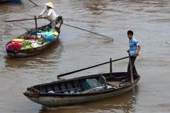 亚洲浮动的市场 图库摄影