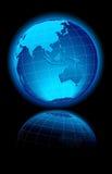 亚洲澳洲背景黑色世界 图库摄影