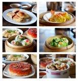 亚洲烹调收藏页 免版税图库摄影
