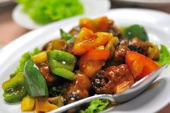 亚洲烹调猪肉酸甜点 图库摄影
