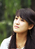 亚洲特写镜头方式女孩纵向 图库摄影