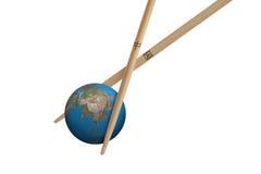 亚洲瓷全球球员 图库摄影