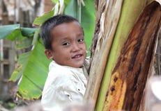 亚洲男孩纵向 免版税库存图片