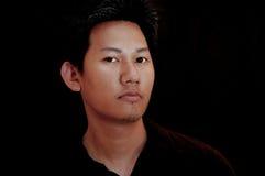 亚洲男性纵向 免版税库存照片