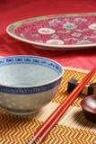 亚洲碗筷 免版税库存图片